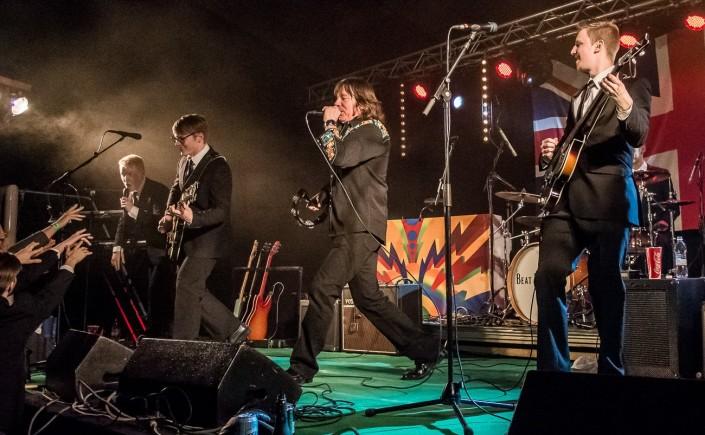 Lapualainen The Beat Brothers esiintyi tapahtumassa viime vuonna yhdessä amerikkalaisen John Lennon -tulkitsija Jay Goeppnerin kanssa. Kuva: Mikko Vares